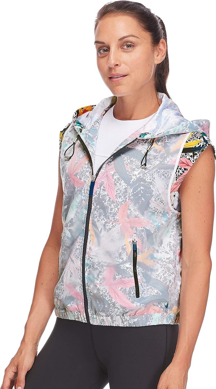 Body Glove Womens Anna Cap Sleeve Zip Front Activewear Vest