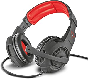 Trust Gaming Cascos Gaming GXT 310 Radius Auriculares Gamer con Micrófono y Diadema Ajustables, Cable de 1 m, para PS4, PS5, PC, Nintendo Switch, Xbox One, Xbox Series X - Negro