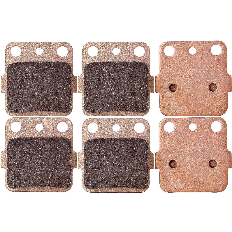 ECCPP FA84 Brake Pads Front and Rear Sintered Replacement Brake Pads Kits Fit for 1983-2012 Honda,1987-2012 Kawasaki,1987-1993 Suzuki,1987-2012 Yamaha