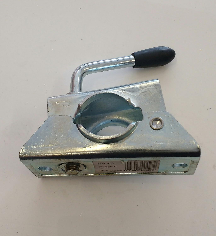 Genuine Maypole pressato acciaio 42 mm split morsetto, rimorchio Jockey Wheel, cavalletto laterale, MP427 Maypole Ltd