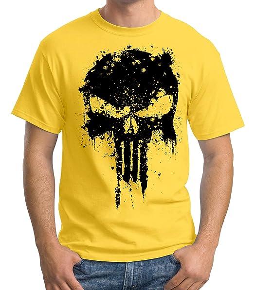 35mm - Camiseta Hombre - The Punisher - Mancha  Amazon.es  Ropa y accesorios ed3f0569d75
