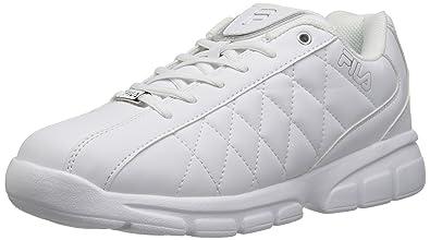 Fila Mens Fulcrum 3 Training Shoe WhiteWhiteMetallic Silver
