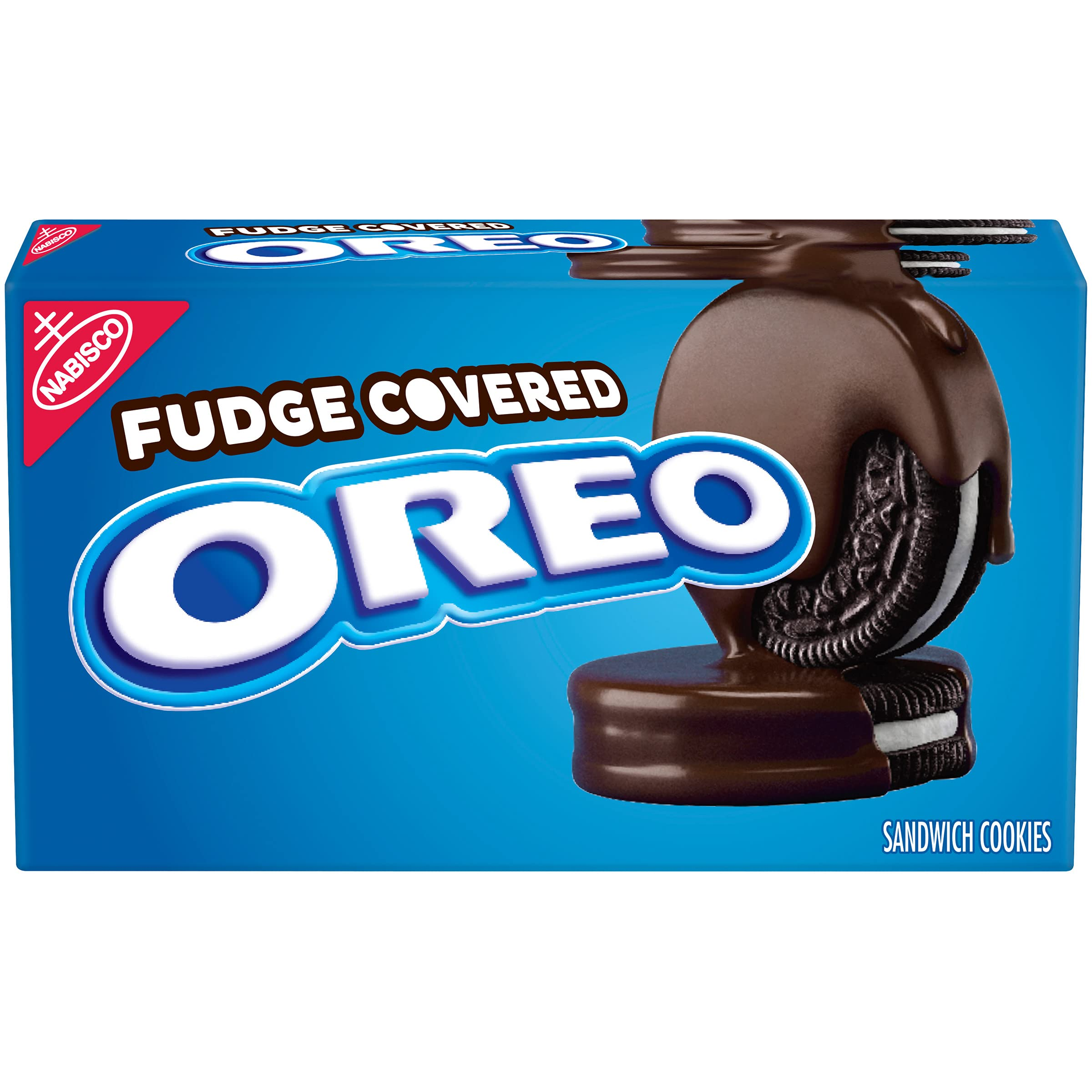 OREO Fudge Covered Chocolate Sandwich Cookies, Original Flavor, 1 Box (7.9 oz)