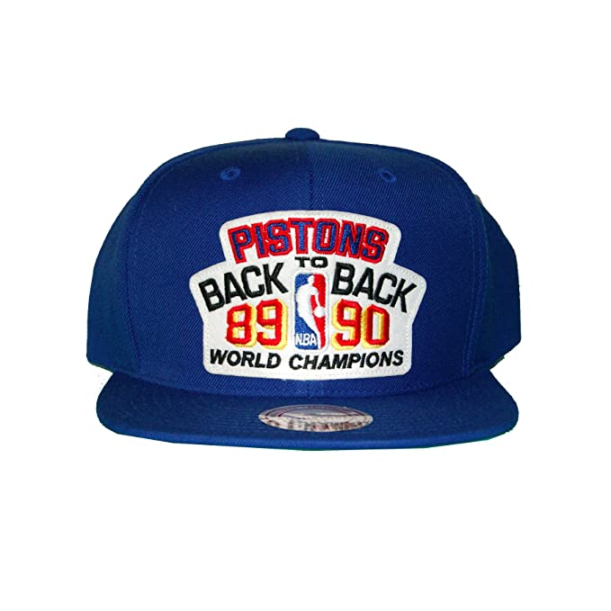 watch 9ad98 bbb89 Mitchell Ness 89 90 Detroit Pistons Back 2 Back NBA Champions Snapback Hat   Amazon.ca  Clothing   Accessories