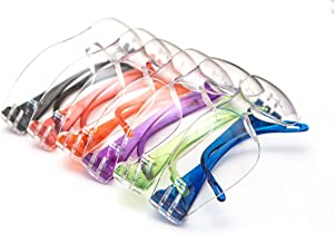 JustForKids EyePro ANSI Z87.1 EN166 Certified Kids Safety glasses, Kids goggles, Scratch, Impact and Ballistic Resistant Safety Goggles with Clear Lensassorted color frame, Child Youth Size, 6 Pairs