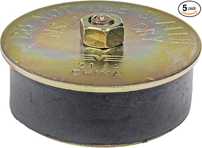 Zok 2-1//4 to 2-3//8 Rubber Expansion Plug 57mm 60mm,2-pack