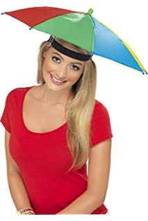Large Umbrella Hat - Perfect rainbow shade to protect your head for ... cb1d675e410d