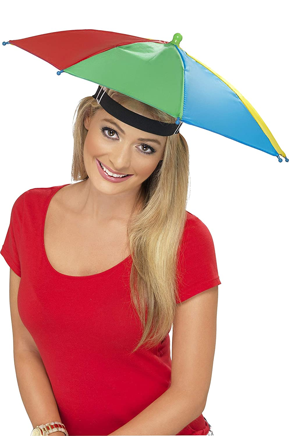 2bcdbd6525a Smiffys Umbrella Hat - Multi-Colour  Smiffys  Amazon.co.uk  Toys   Games