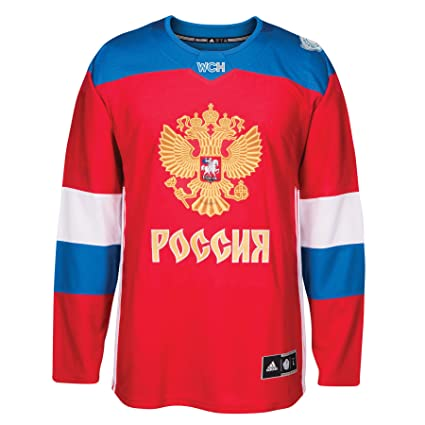 Amazon.com   adidas Team Russia 2016 World Cup of Hockey Men s ... aa1df1a49fc