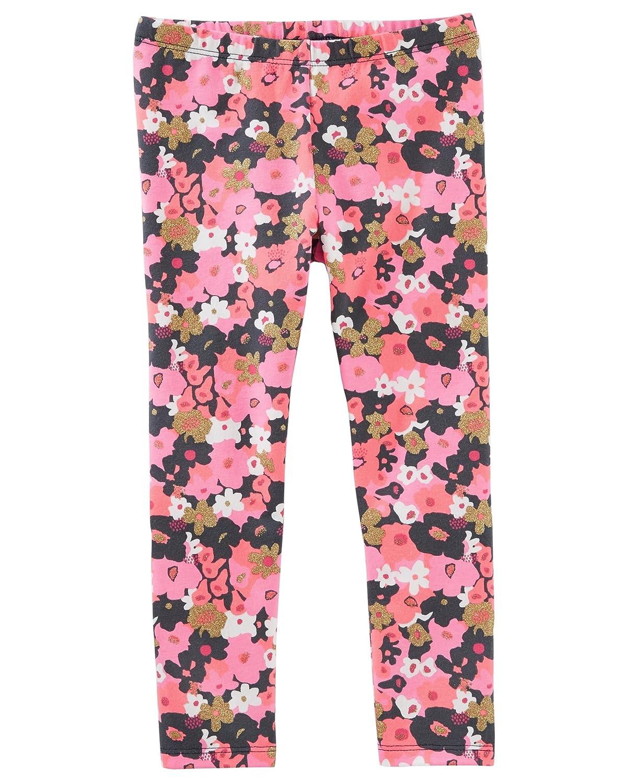OshKosh BGosh Girls 2T-4T Floral Leggings 2T