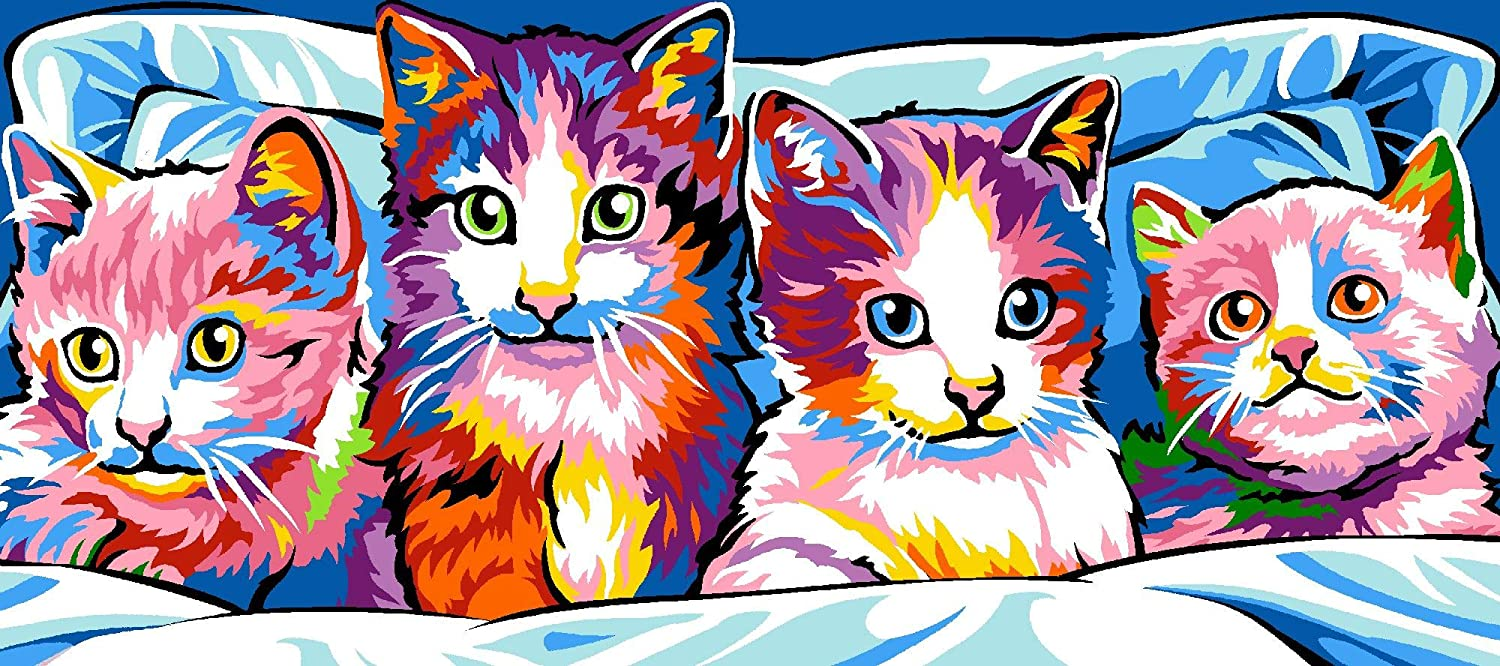 Colour Cats by Atlascraft SEG de Paris Tapestry//Needlepoint Kit