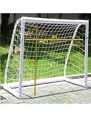 JANOON, Porta da Calcio Portatile per Bambini, in Metallo Resistente, per Calcio (1,8 x 1,2 m)