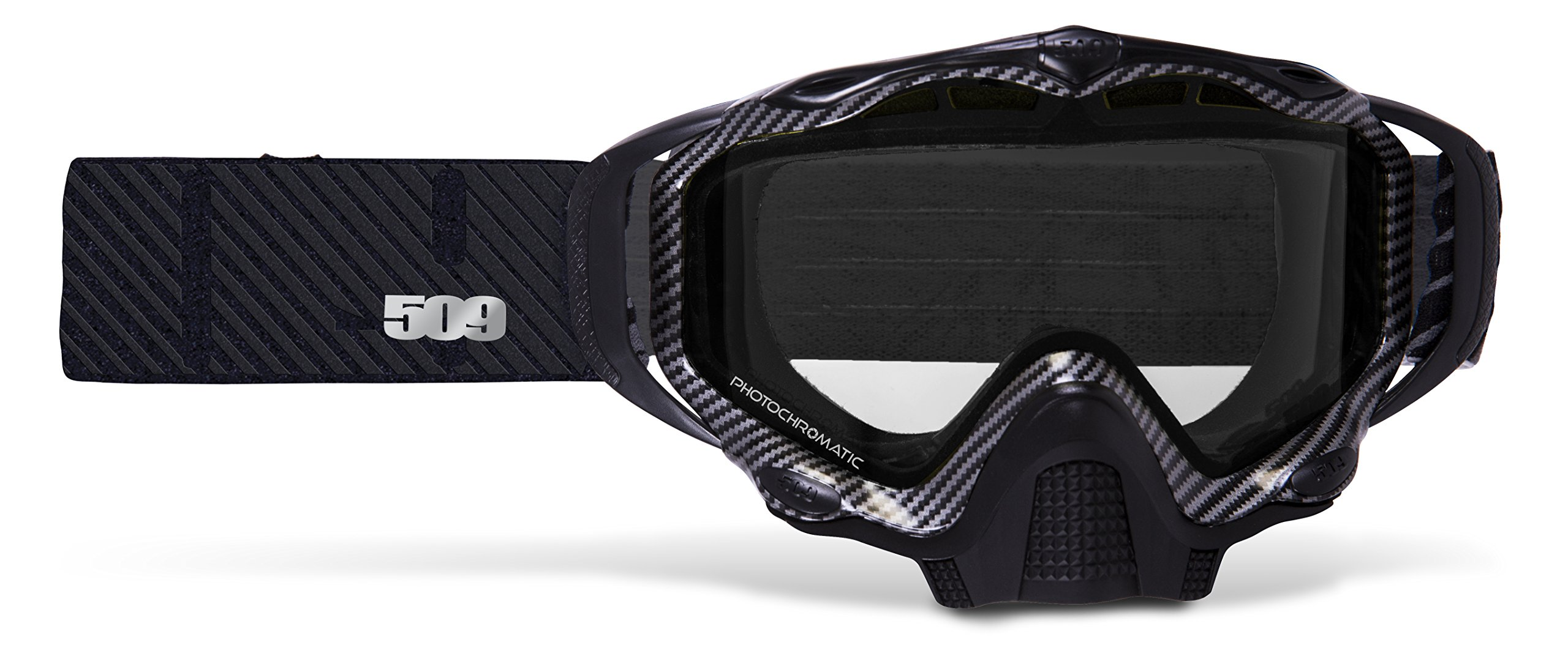 509 Sinister X5 Snow Goggles - Carbon Fiber - Clear to Blue Photochromatic