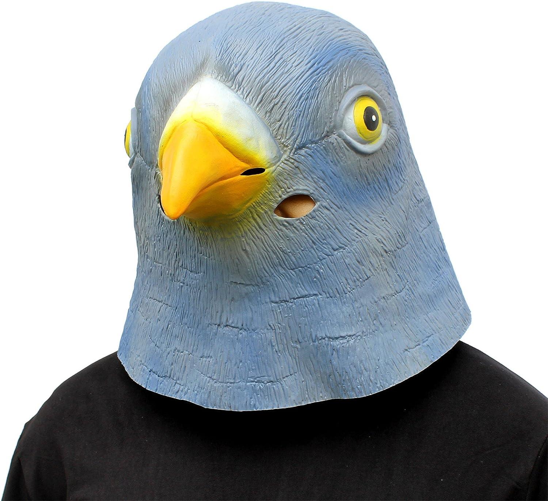CreepyParty Máscara de Cabeza de Látex Animal Paloma: Amazon.es ...