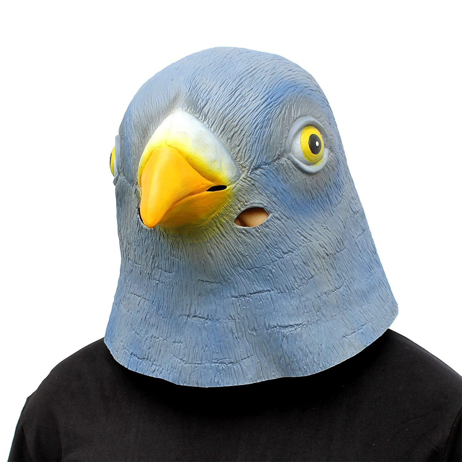CreepyParty Deluxe Novelty Halloween Costume Party Latex Animal Head Mask Pigeon