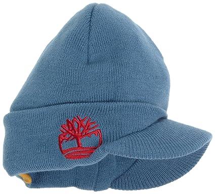 a2692f4d Amazon.com: Timberland Big Boys' Flat Knit Hat with Brim, Blue, One ...