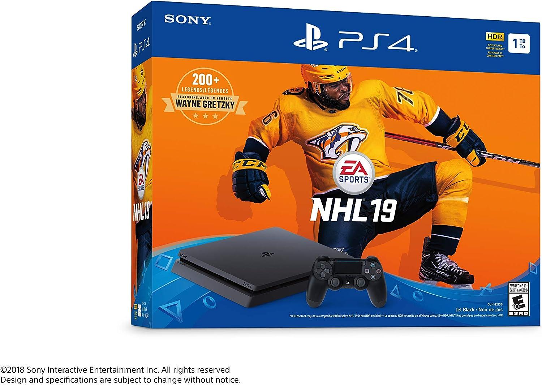 Amazon.com  Sony PlayStation 4 1TB Slim - NHL 19 Bundle Edition  Video Games 0d2ce81d5