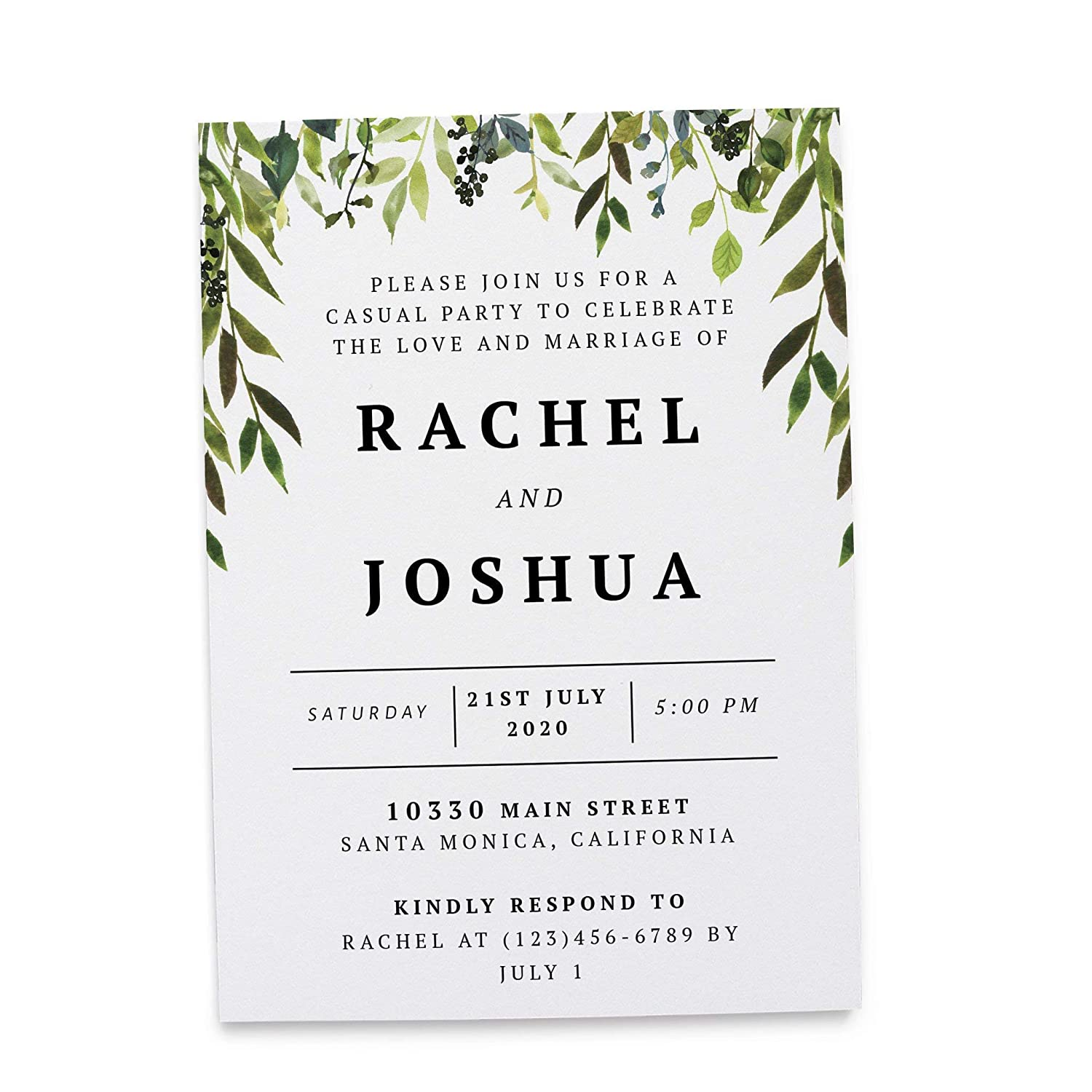 Amazon Com Wedding Reception Invitation Cards Marriage