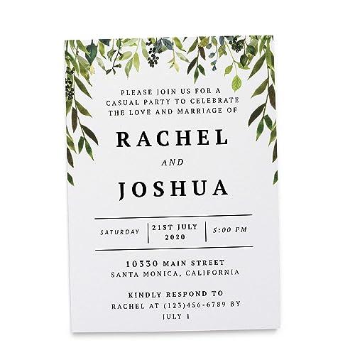Wedding Reception Invitation Cards