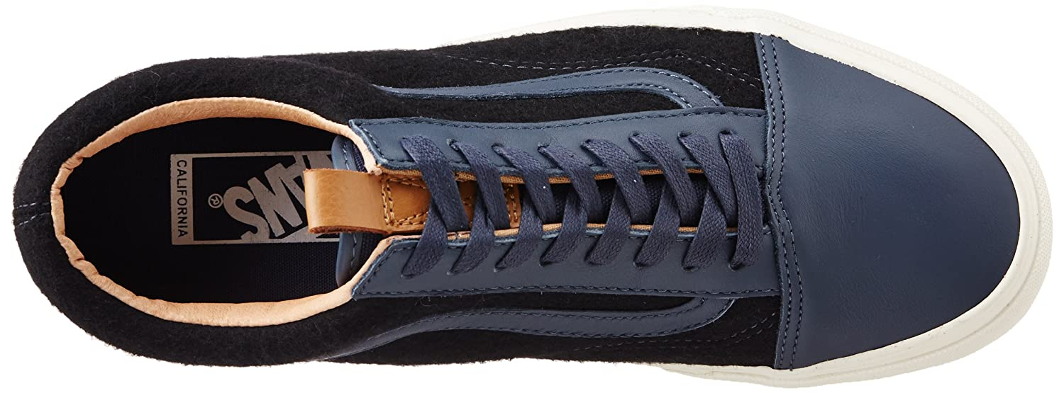 9a25f4bef6 Vans Men s Old Skool Reissue CA (Leather and Wool) Ombreblue and Black  Canvas Sneakers - 9 UK  Buy Online at Low Prices in India - Amazon.in