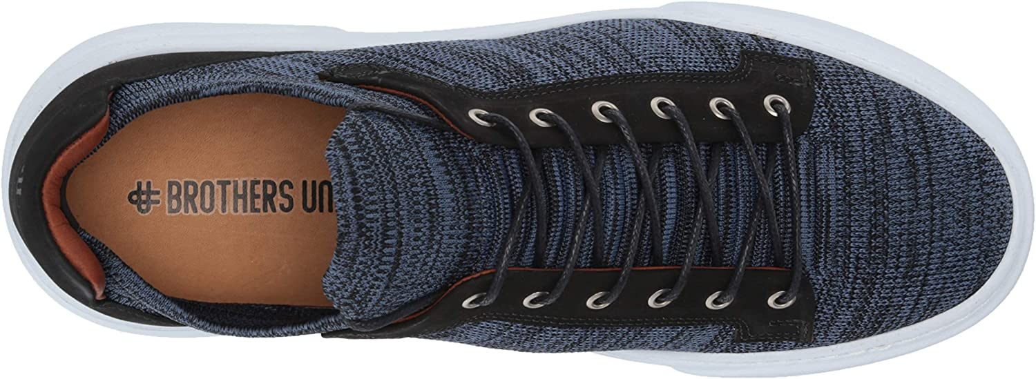 Brothers United Herren Leather Knit Lightweight Technology Fashion Sneaker Turnschuh Navy Lux Strick Nubuk Schwarz