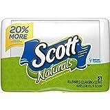 Scott  Naturals Flushable Cleansing Cloths, Tub, 51 Count