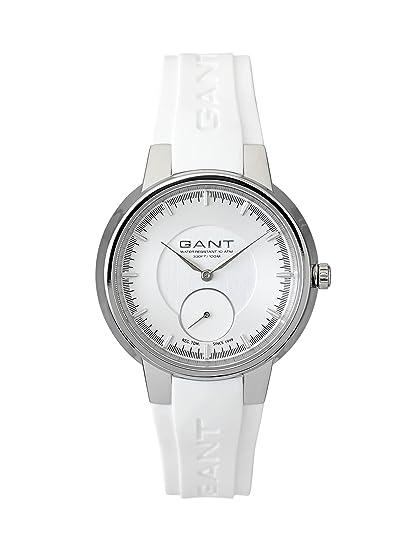 GANT W70491 - Reloj analógico de cuarzo para mujer, correa de plástico color blanco: Amazon.es: Relojes