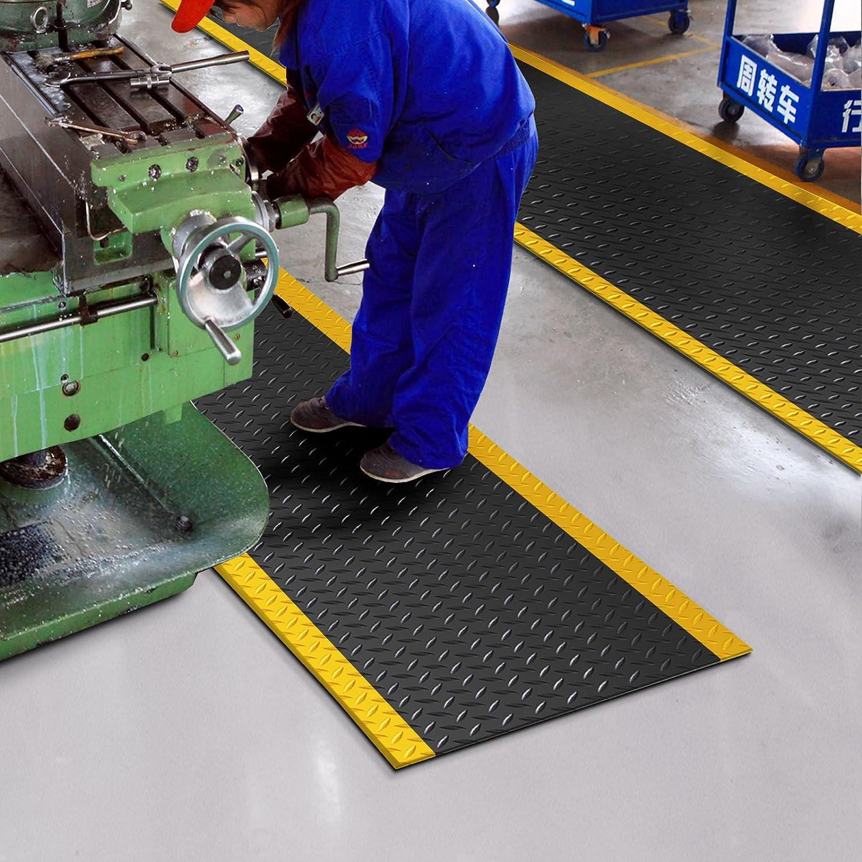 Schwarz 60x200 cm Arbeitsplatzmatte Anti-Erm/üdungsmatte Dyna-Protect Diamond
