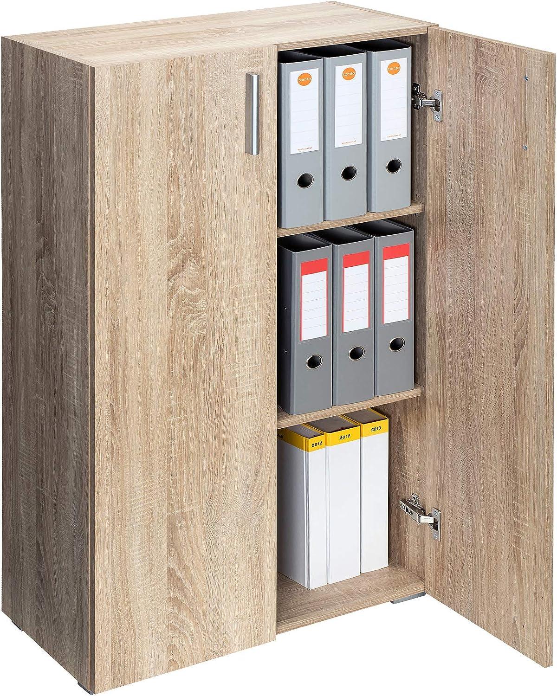Deuba Mueble Vela | Armario | con 2 Puertas | 3 estantes | versatil | Color Roble