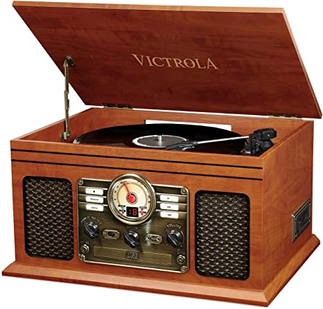 Victrola Classic 6-in-1, Tocadiscos Bluetooth, Caoba