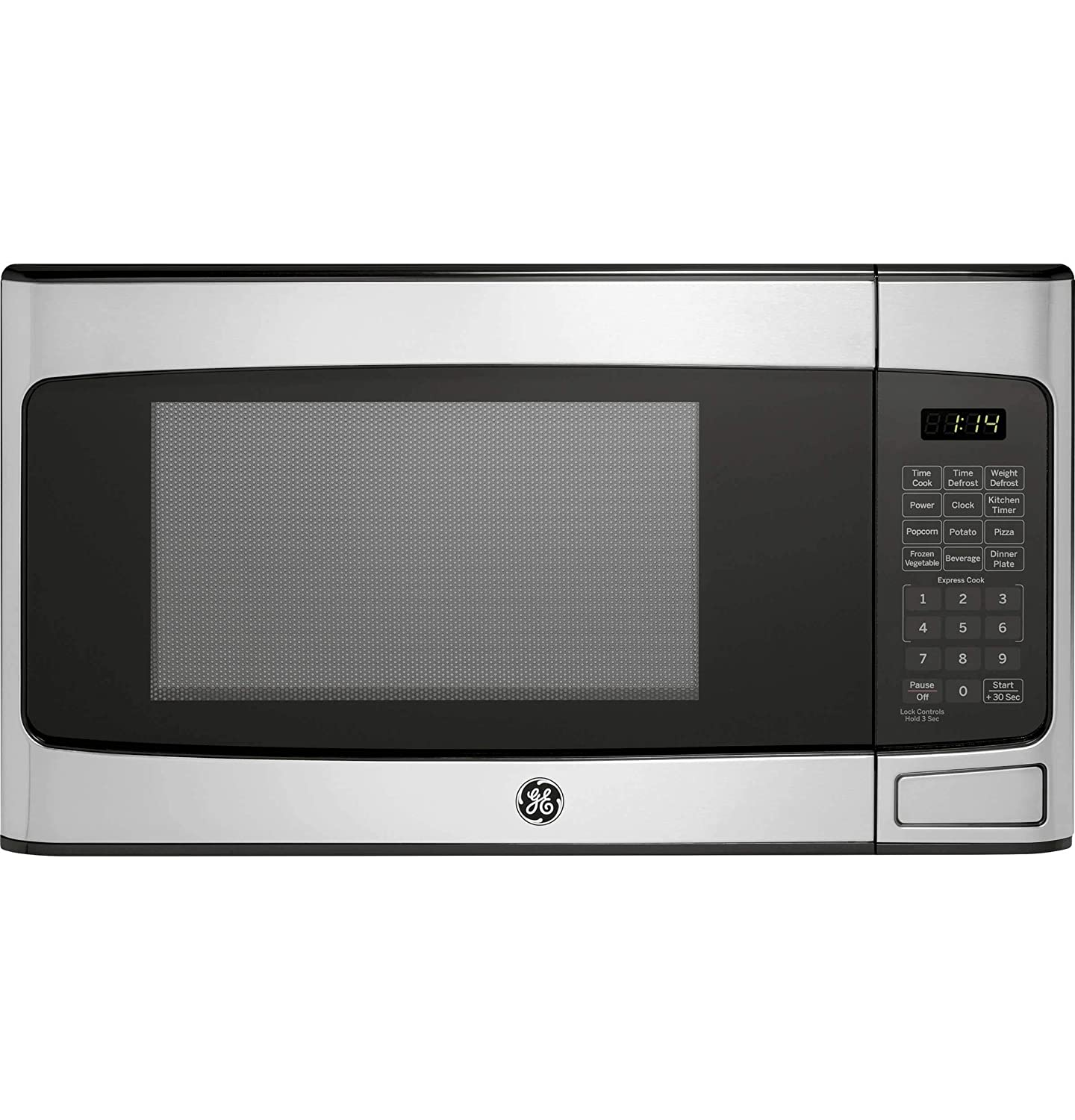 GE 1.1 Cu Ft Countertop Stainless Steel Microwave Oven (Certified Refurbished)
