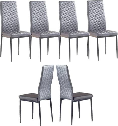 Conput Set of 6 Leather Dining Chairs Set