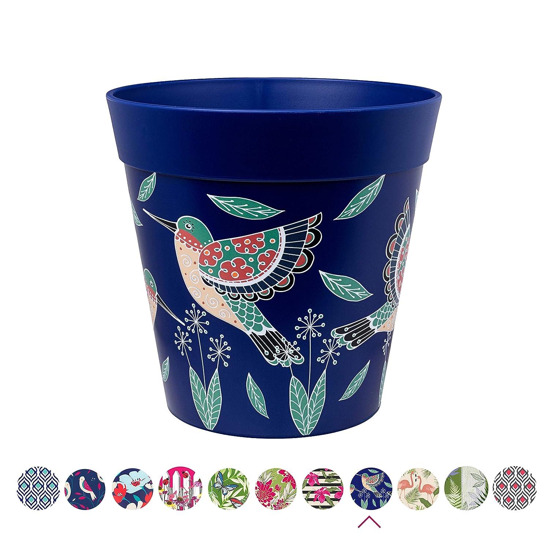 Indoor//Outdoor Planter Hum Flowerpots Blue Birds Plant Pot