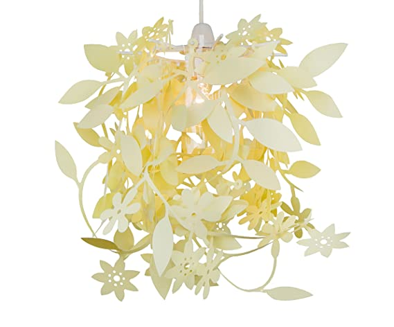 Loxton Lighting – Lámpara de techo colgante de floral de PVC, color crema, 40 W