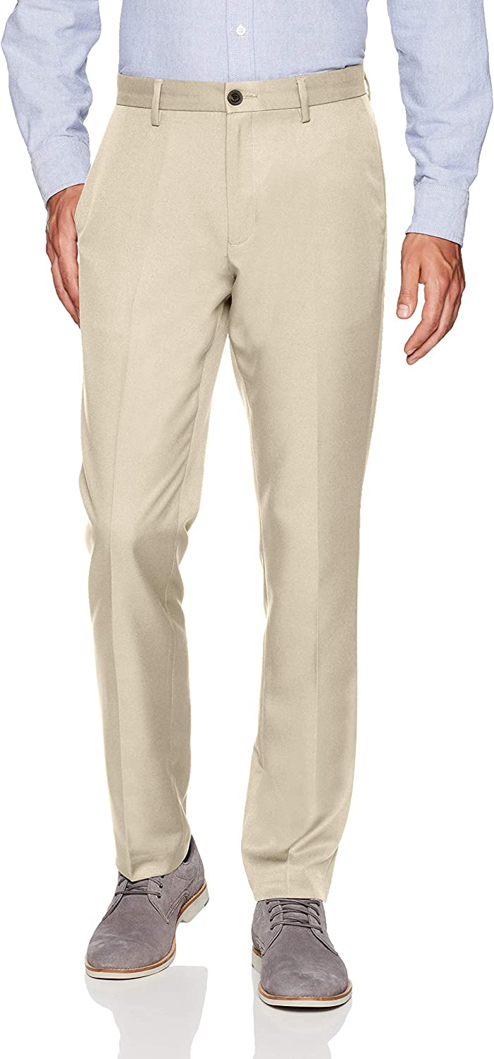 Dress-Pants Uomo Essentials Slim-Fit Flat-Front Dress Pants
