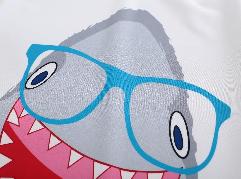 Grandwish Boys Shark Swimsuit Short Sleeve Sun Protection Set 12M-5T
