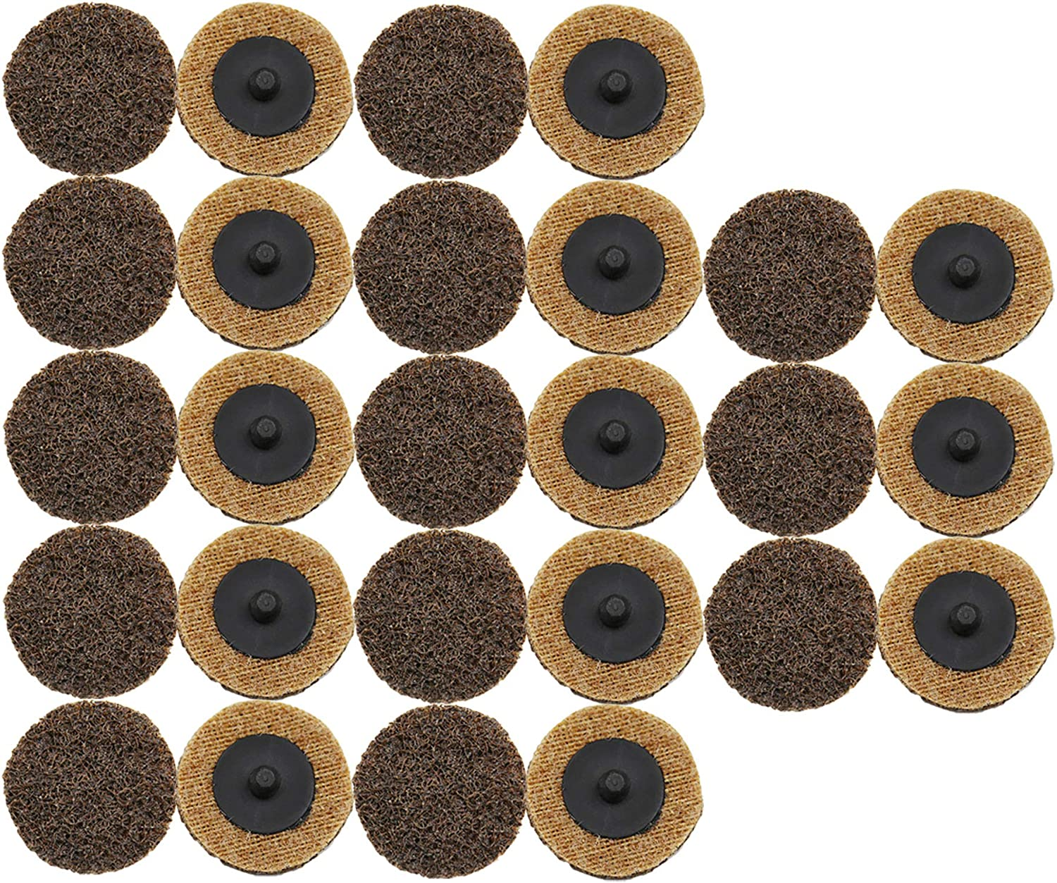 COSPOF 2 Inch Roloc Sanding Disc,Surface Conditioning Disc,Easy for Quick Change,Features Better Surface Quality and Heat Dissipation -26 Pack (Brown-Coarse) 81BC9d2BdNVL