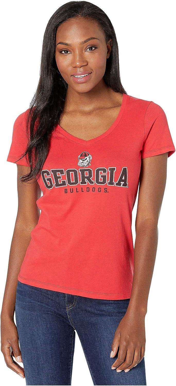 GEORGIA BULLDOGS NEW NCAA WOMEN/'S V-NECK FASHION SHIRT