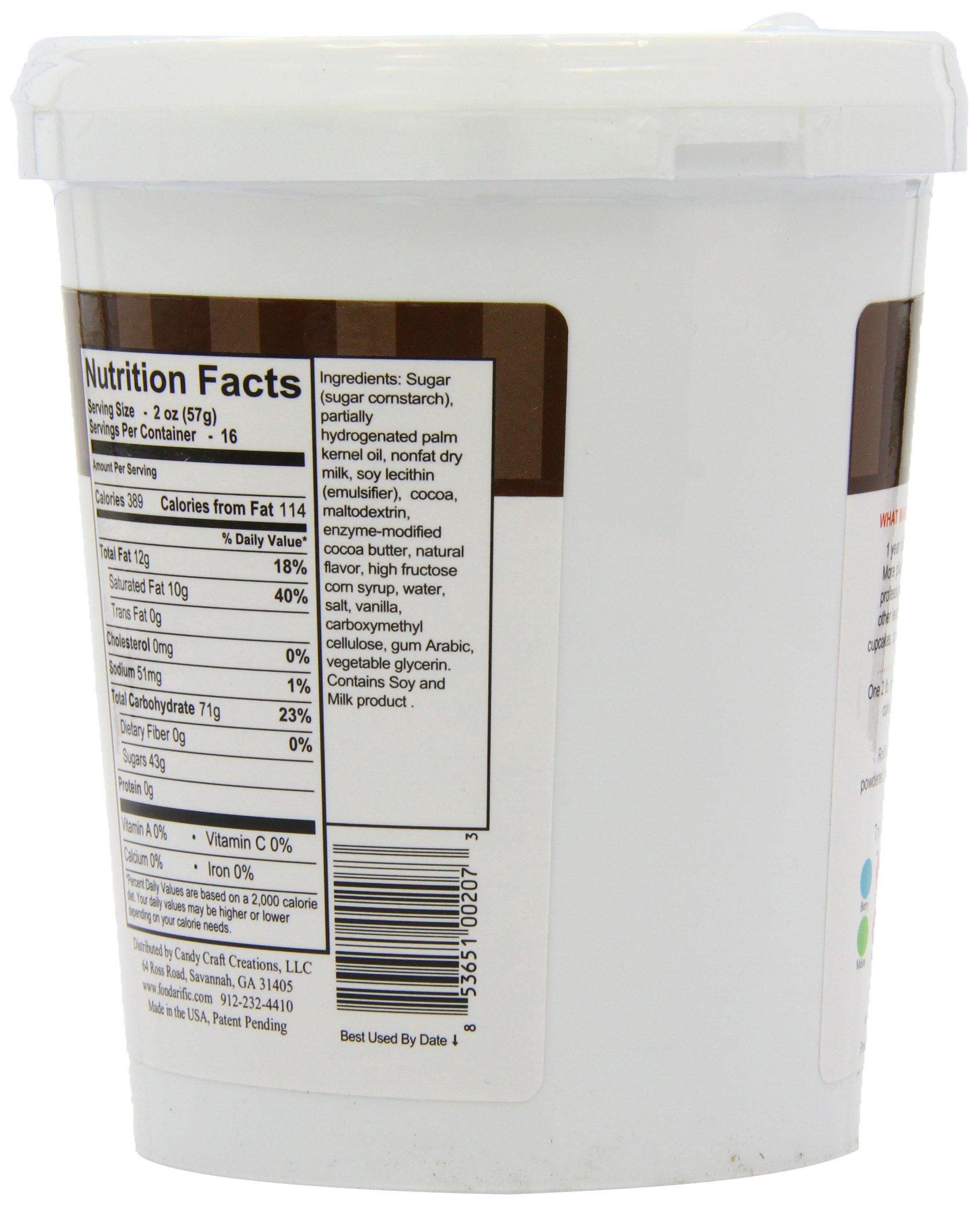 Fondarific Chocolate Fondant Brown, 2-Pounds by Fondarific (Image #7)