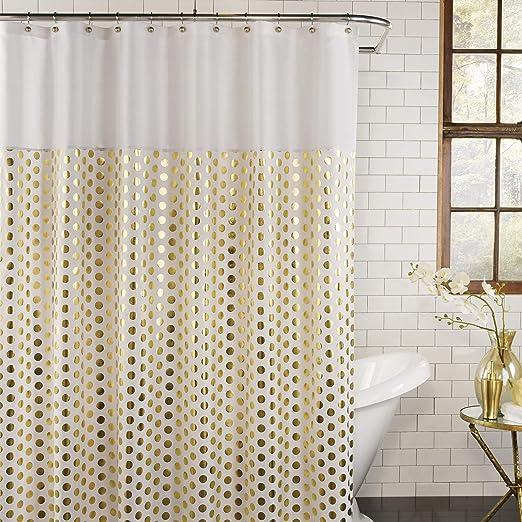 gold shower curtain hooks
