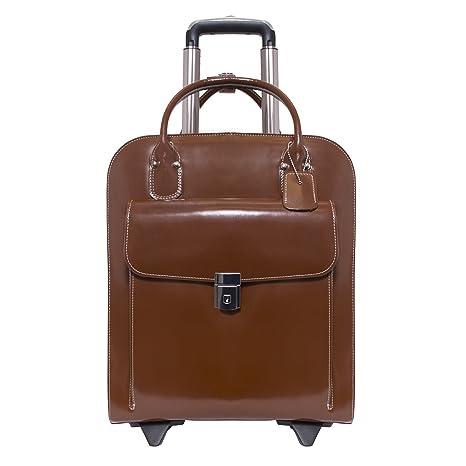 McKleinUSA 97694 Piel Vertical con Ruedas Ladies maletín para Ordenador portátil (15,4), Color marrón: Amazon.es: Informática