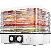 Aicok Food Dehydrator with 5 Stackable Trays
