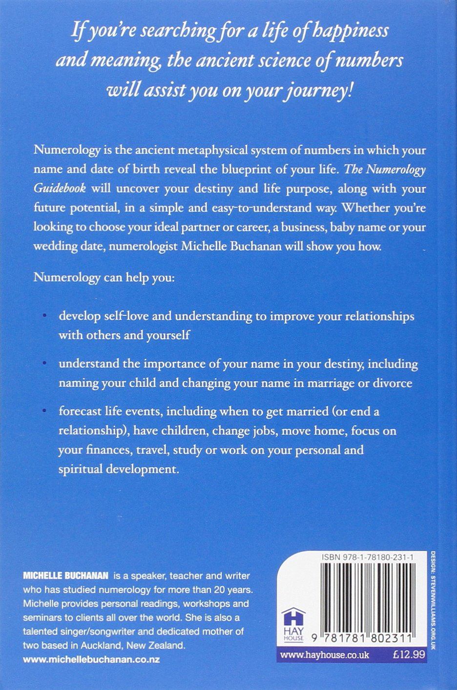 The numerology guidebook uncover your destiny and the blueprint of the numerology guidebook uncover your destiny and the blueprint of your life amazon michelle buchanan 9781781802311 books malvernweather