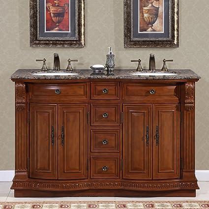 amazon com silkroad exclusive hyp 0223 bb uwc 55 granite stone top rh amazon com  silk road bath vanities