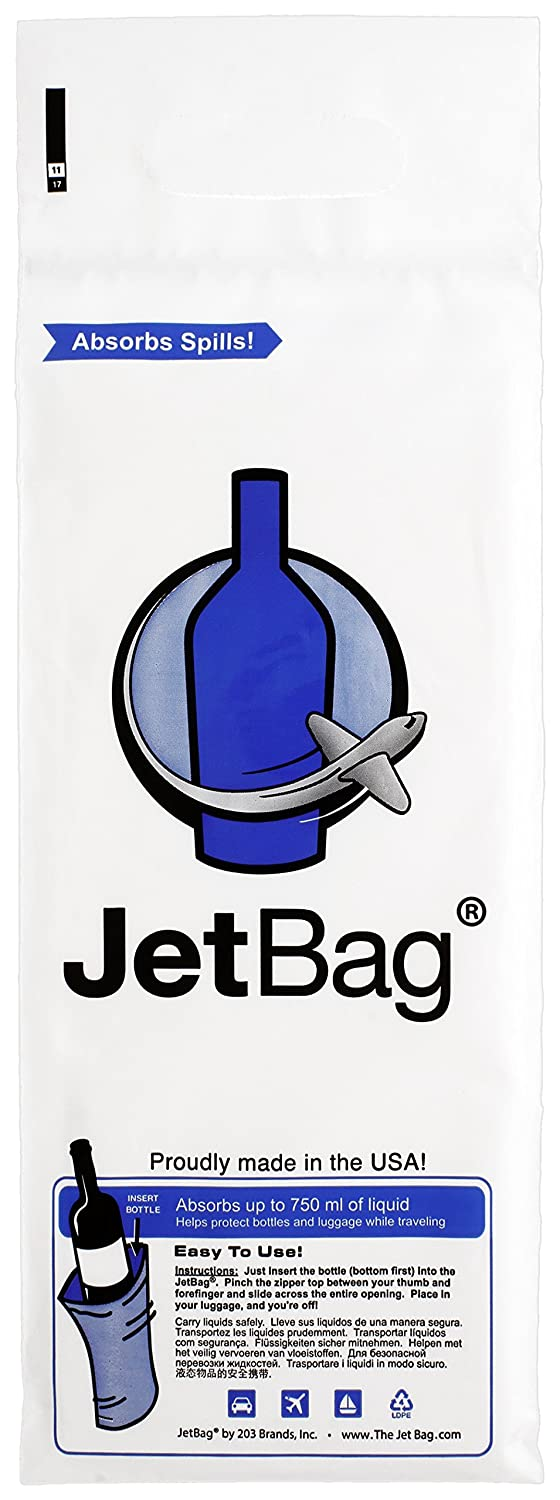 The Original ABSORBANT Reusable and Protective Bottle Bags Jet Bag Bold Made in the USA Set of 3