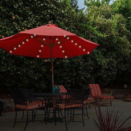 Luces 13880 de Garden Kraft, para Colocar en parasoles, de luz Blanca cálida: Amazon.es: Jardín