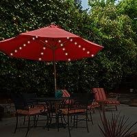 Luces 13880 de Garden Kraft, para Colocar en parasoles, de luz Blanca cálida