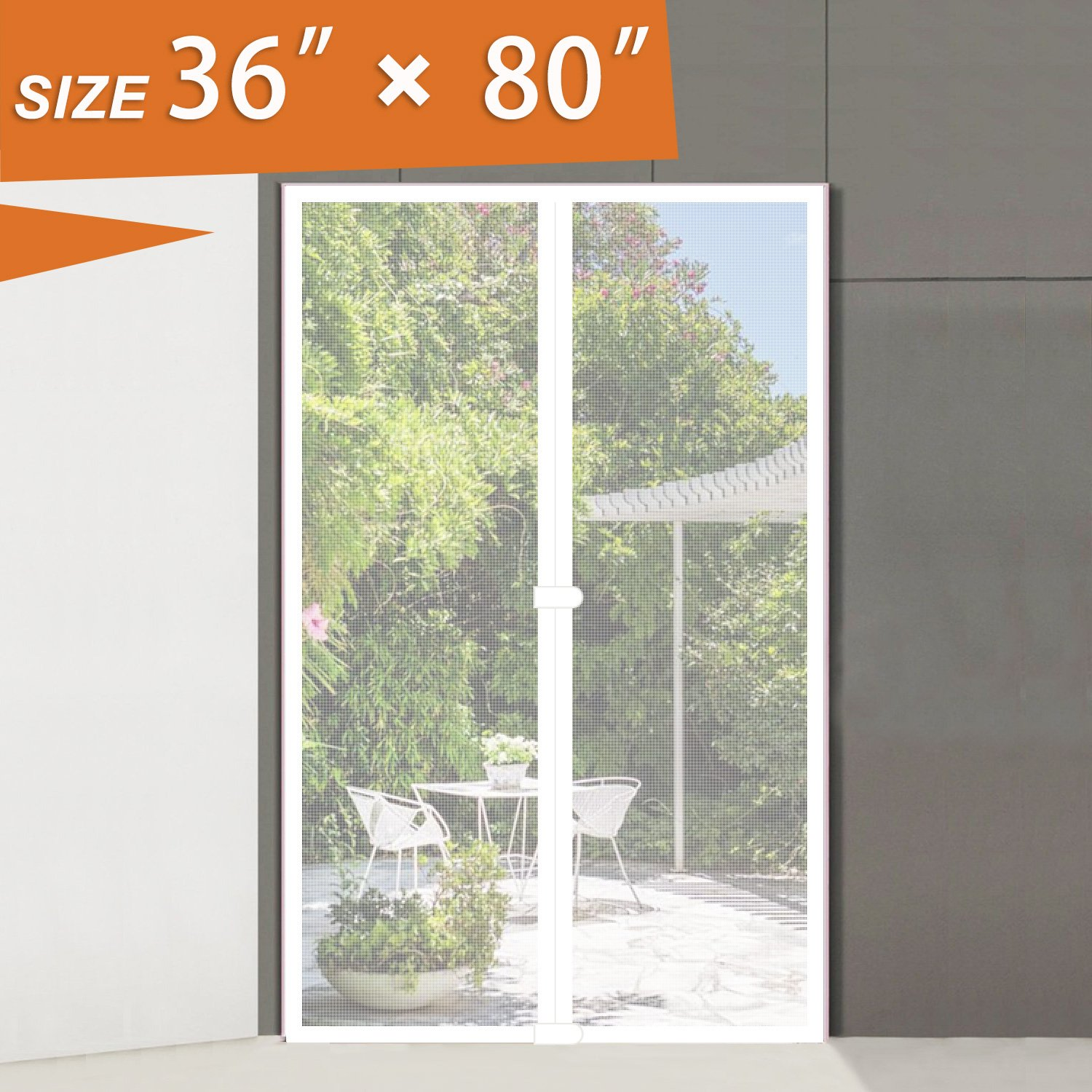 French Door Screen 36 X 80 Mesh Curtain Fly Screens White Fireproof