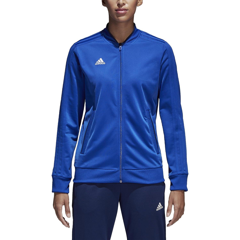 adidas Women's Condivo18 Polyester Jacket, Bold Blue/Dark Blue/White, M/M CF4328