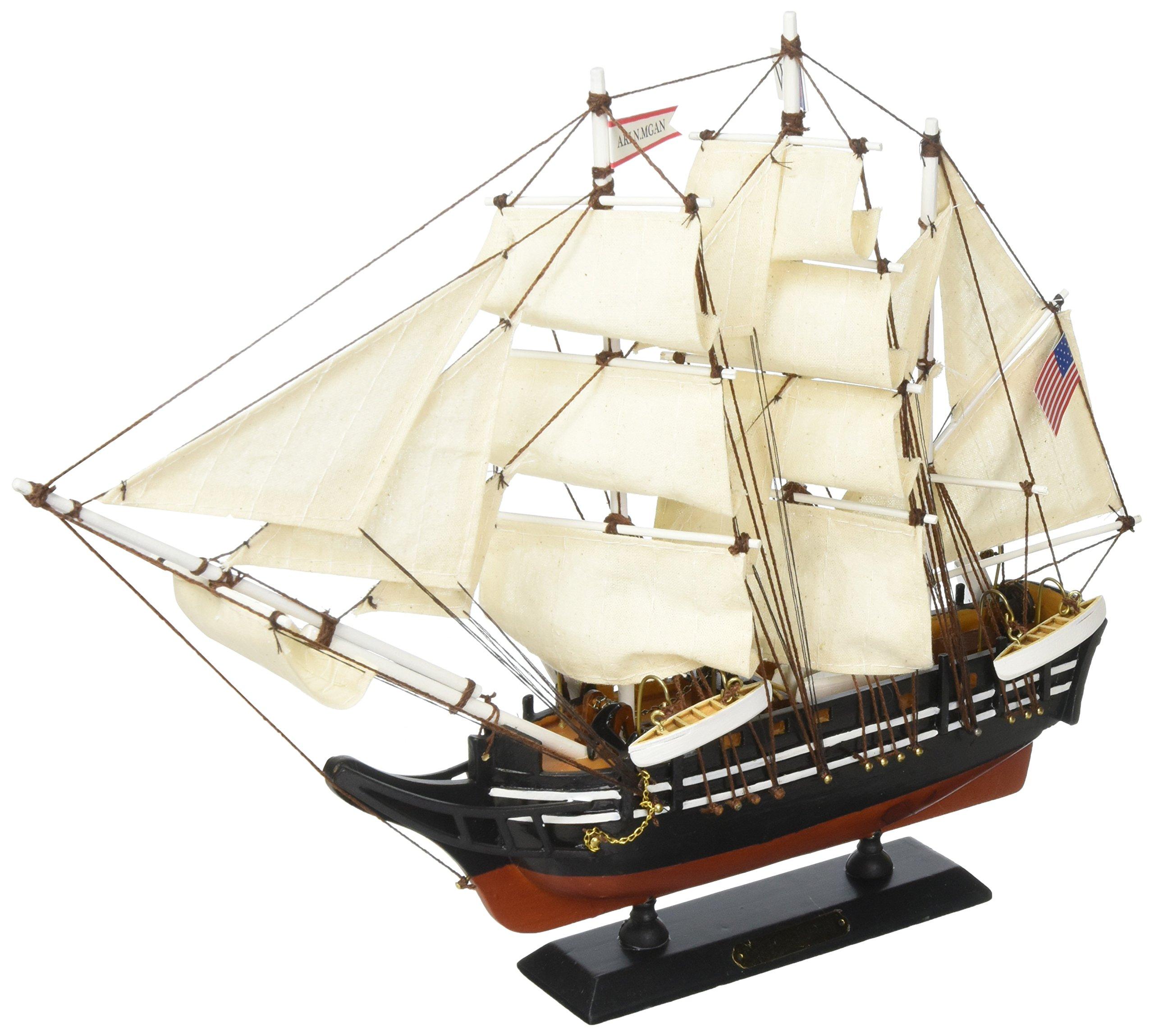 Hampton Nautical Wooden Charles W. Morgan Model Whaling Boat, 15''